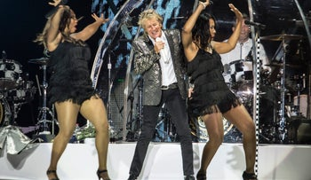 "Rod Stewart performing at Yarkon Park, Tel Aviv, June 14, 2017. This is the closest he got to ""Handbags and Gladrags."""