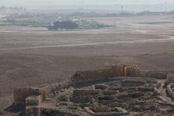 The archaeological site at Tel Arad, southern Israel.