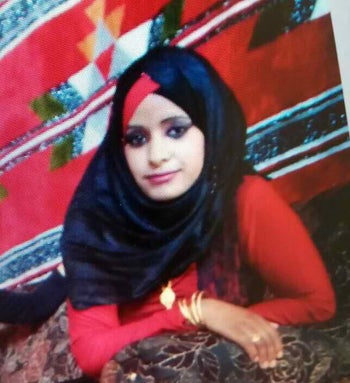 Hanan al-Bahiri, 19, who was murdered in May 2017.