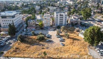 The site of planned Jewish housing in the East Jerusalem neighborhood of Sheikh Jarrah, July 2017.