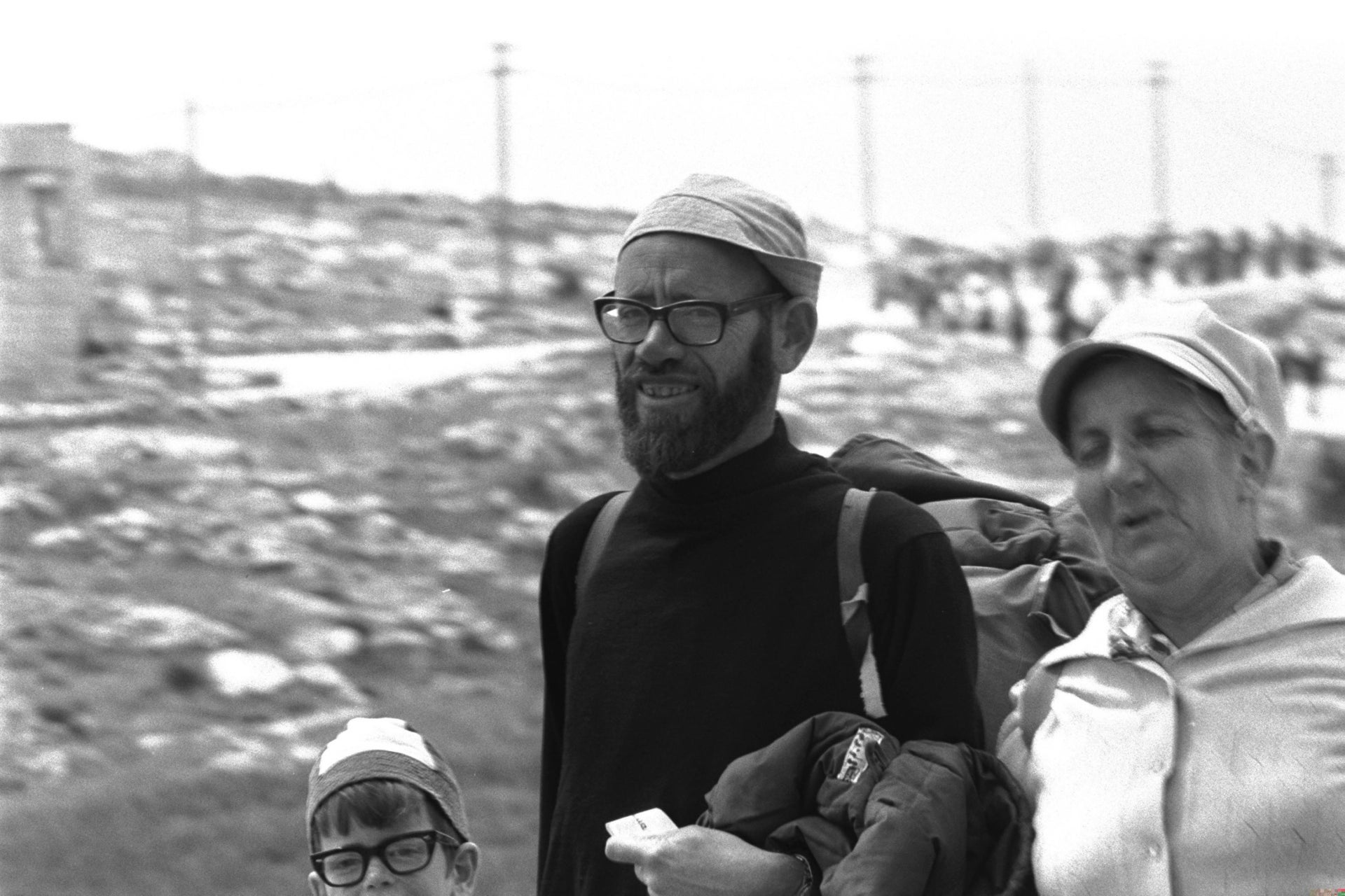 Rabbi Levinger and his family, 1976.