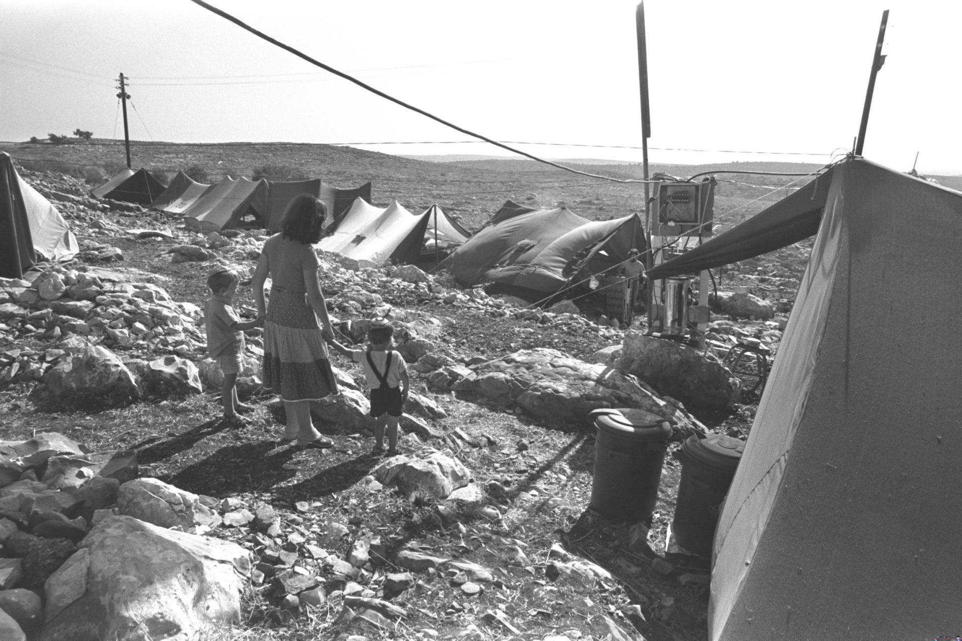 The Peerim outpost in the West Bank, 1977.