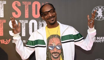 "Snoop Dogg arrives at the Los Angeles premiere of ""Can't Stop, Won't Stop: A Bad Boy Story"" at the Writers Guild Theater on Wednesday, June 21, 2017, in Beverly Hills, Calif."