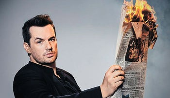 Late-night talk show host Jim Jefferies. Doesn't mind offending.