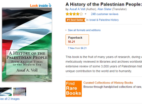 A screenshot of the Amazon page on which the book is for sale.