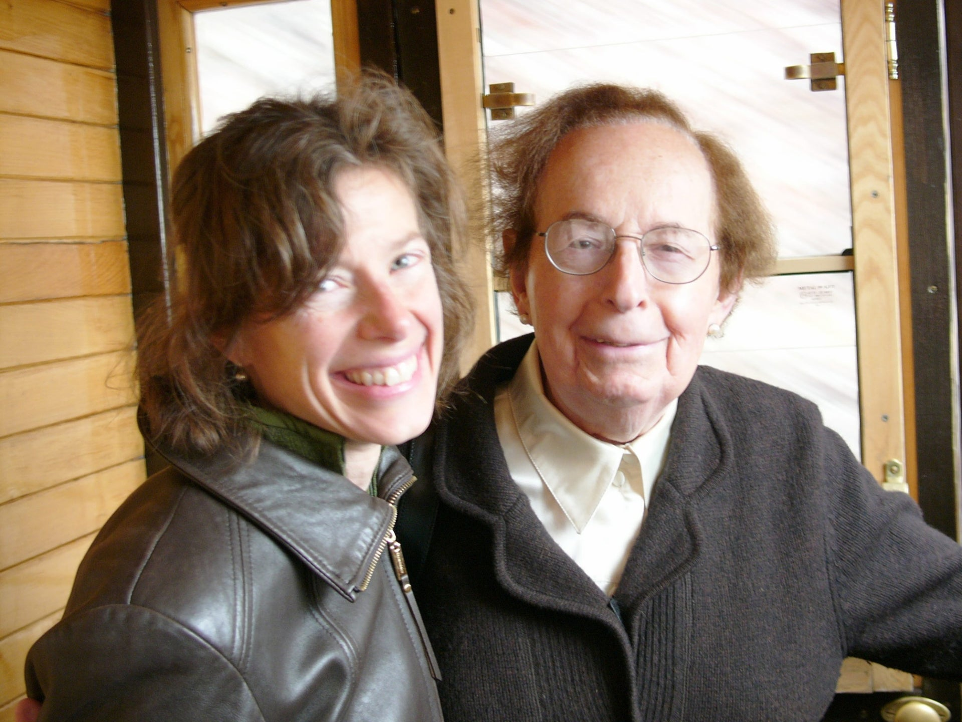 Susan Faludi with Stefánie in 2010.