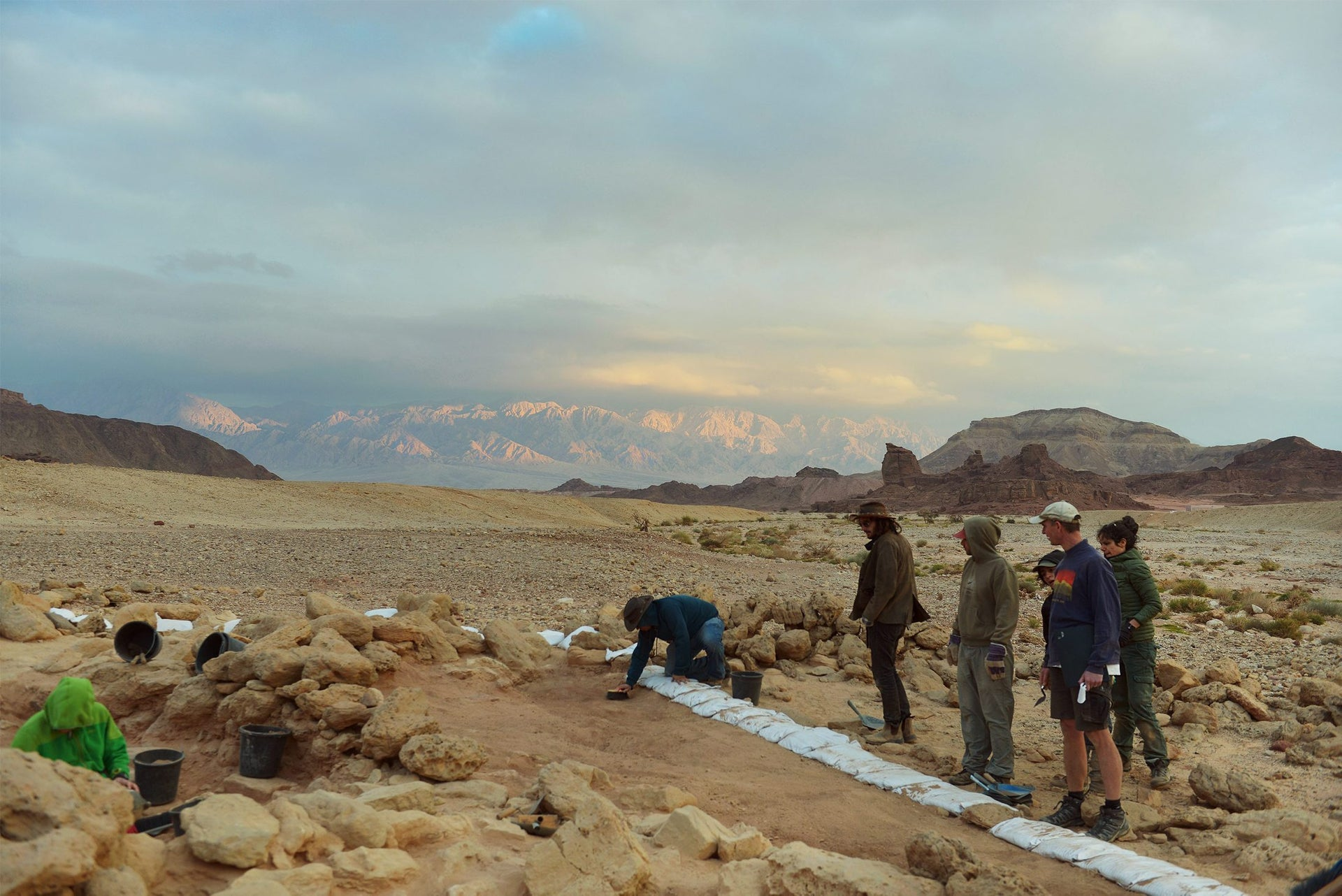 The Timna excavations site.
