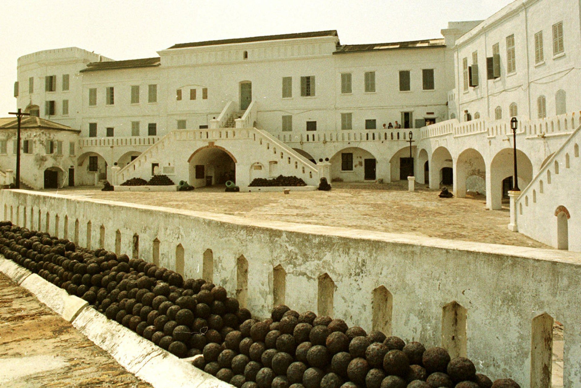 A slave fortress in Cape Coast, Ghana is shown in this Dec. 6, 1996 file photo.