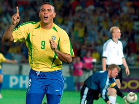 Brazil's Ronaldo at the 2002 World Cup final soccer match in Japan.