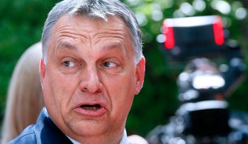 Hungarian Prime Minister Viktor Orban arrives for an European Union leaders summit at the European Council in Brussels, June 22, 2017.