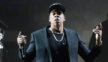 File photo: Jay-Z performs during a campaign rally for Democratic presidential candidate Hillary Clinton in Cleveland, Nov 4, 2016.