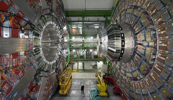 The Compact Muon Solenoid Cavern at CERN, 2015.