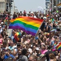 Tel Aviv's Gay Pride Parade on June 9, 2017, attended by some 200,000 people.