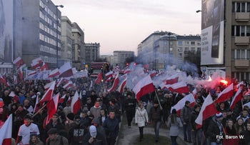 File photo: A Polish Independence Day march