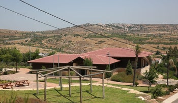 Youth center in Israeli settlement of Efrat in the West Bank among structures built illegally
