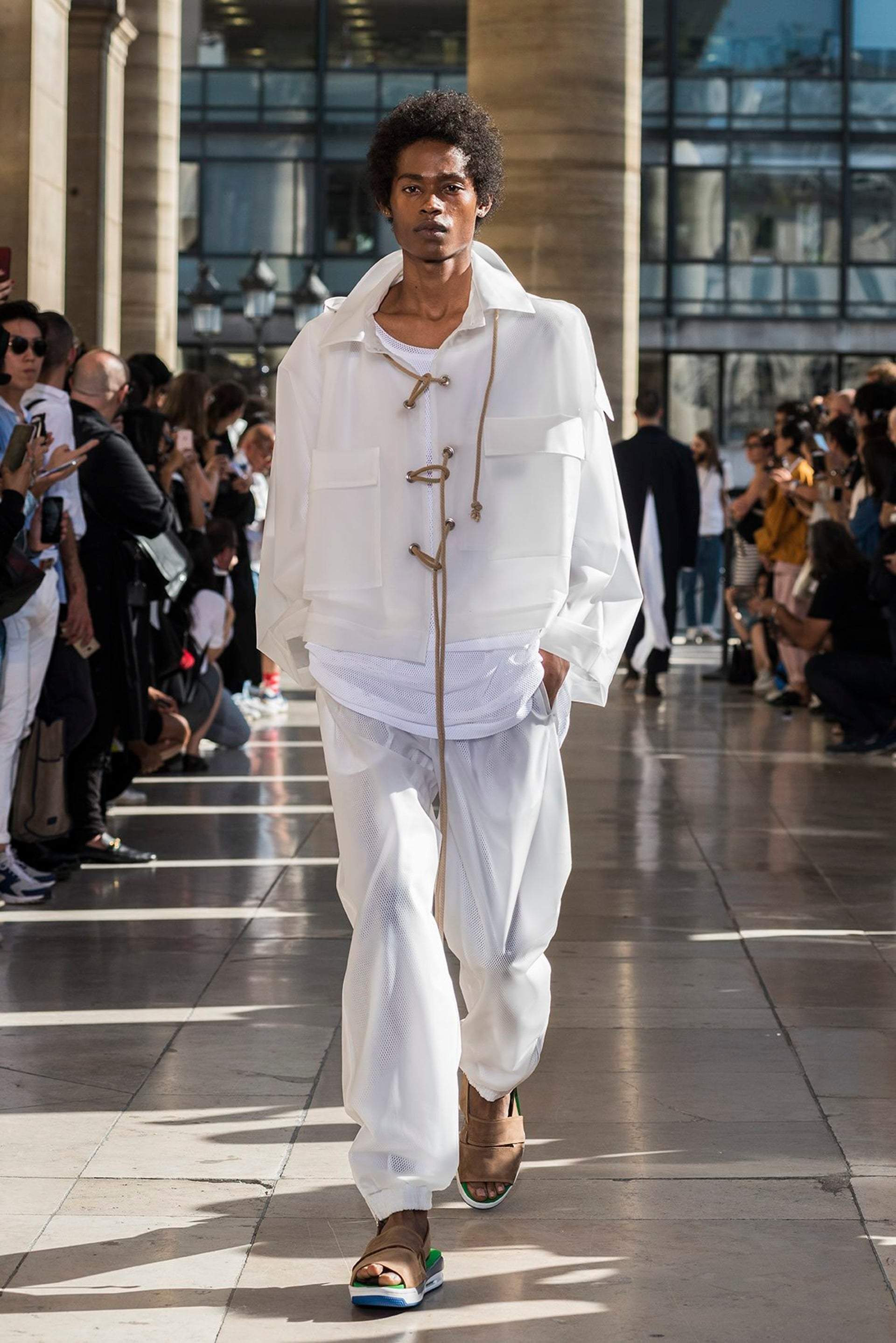 Hed Mayner's spring/summer 2018 menswear collection at Paris fashion week.