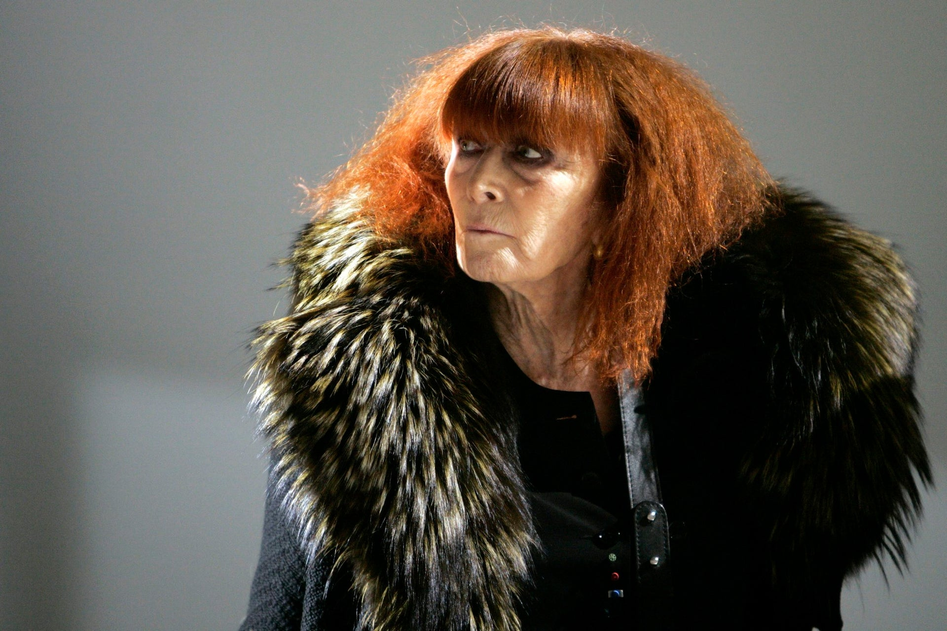 In this Jan.18 2008 file photo, French fashion designer Sonia Rykiel looks on prior to the presentation of her men's fall/winter 2008-2009 fashion collection presented in Paris.