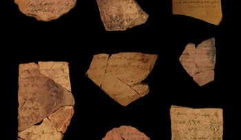 Ostracons found by Arad from around 2,500 years ago prove to have been written by multiple people, indicating that in the Kingdom of Judah, literacy was widespread, not a luxury of the elites.