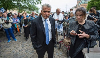 Lapid visiting in Sweden, August, 2016.
