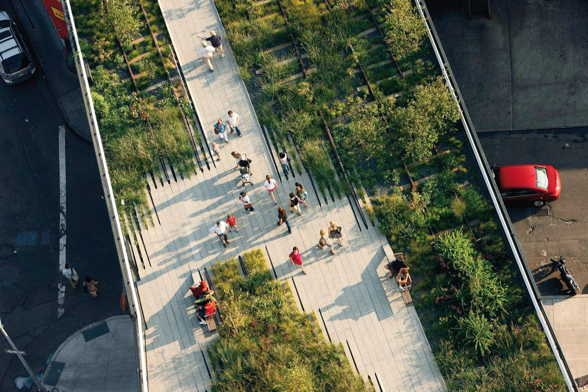 The High Line in Manhattan. Now attracts seven million tourists a year.