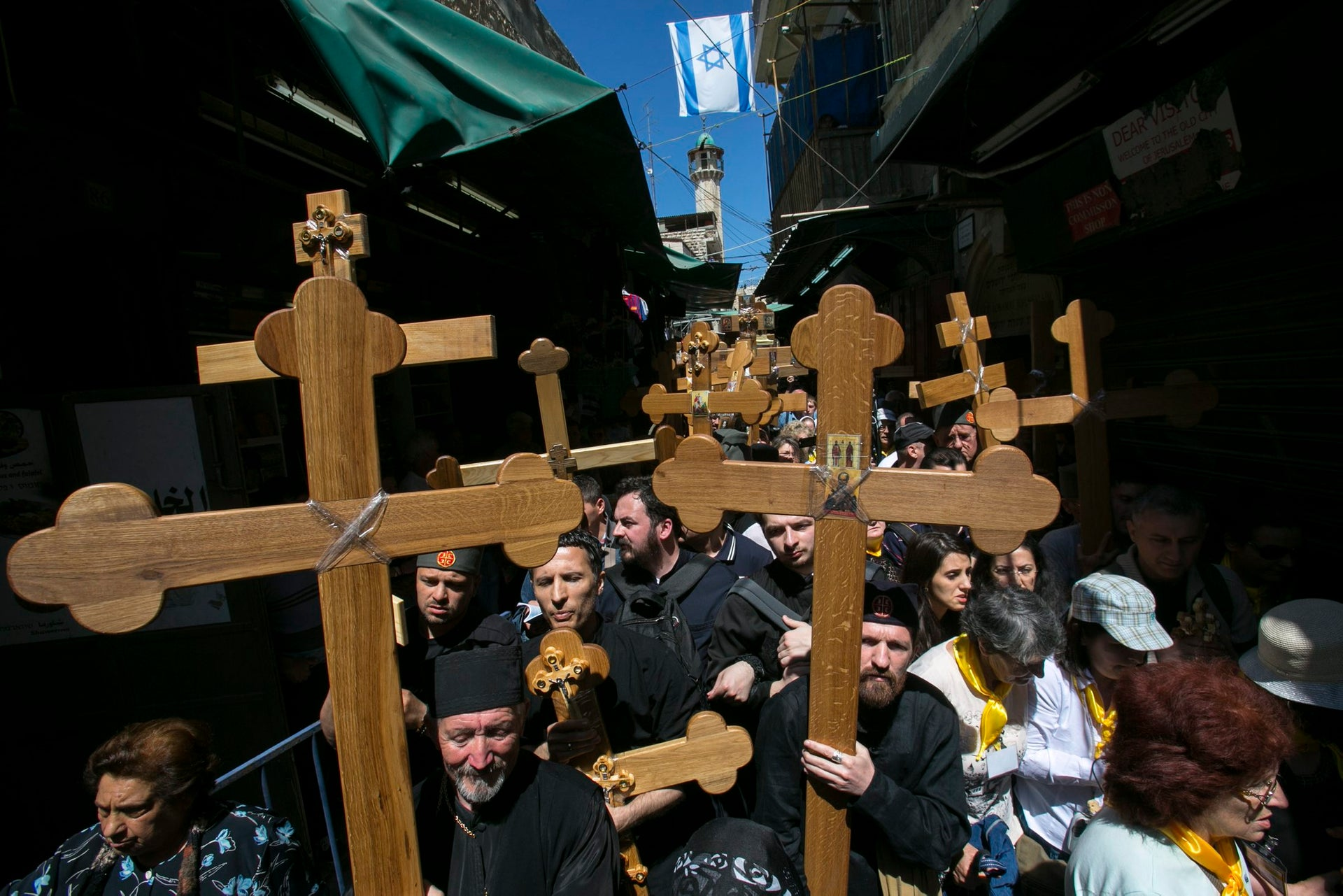 The Via Dolorosa: Mapped out centuries after the event.
