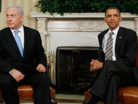 President Barack Obama shown at a meeting with Prime Minister Benjamin Netanyahu in the Oval Office in May 2011.