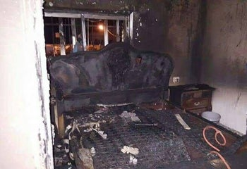 Arson suspected at Palestinian village of Duma, months after deadly attack. March 20, 2016.