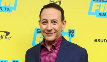 """Paul Reubens attends the world premiere of """"Pee-wee's Big Holiday"""" on Thursday, March 17, 2016, in Austin, Texas."""