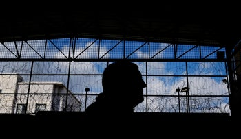 An inmate in Ayalon Prison.