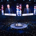 U.S. Republican presidential hopeful Donald Trump addresses the American Israel Public Affairs Committee (AIPAC) 2016 Policy Conference at the Verizon Center in Washington, DC, March 21, 2016.