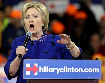 Democratic presidential candidate Hillary Clinton at a campaign rally, March 2, 2016, in New York.