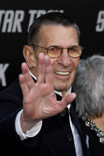 "Leonard Nimoy at the Los Angeles premiere of ""Star Trek"" held at the Grauman's Chinese Theater in Hollywood on April 30, 2009."