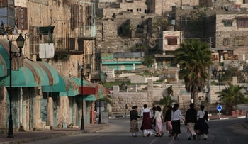 A file photo showing the Jewish settlement of Hebron.