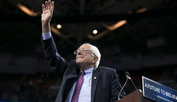 Bernie Sanders at a campaign rally in Seattle, Washington, March 20, 2016.