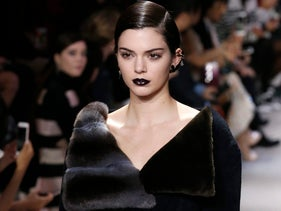 Model Kendall Jenner wears a creation for Christian Dior's Fall-winter 2016-2017.