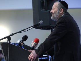 Interior Minister Arye Dery, March 30, 2016.