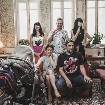 """The cast of """"Irreversible,"""" with Adi Ashkenazi front left."""