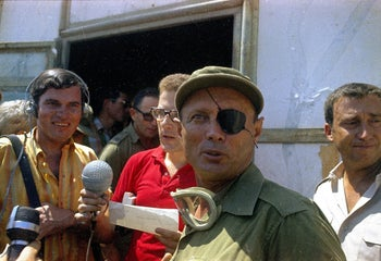 Defense Minister Moshe Dayan in 1969.