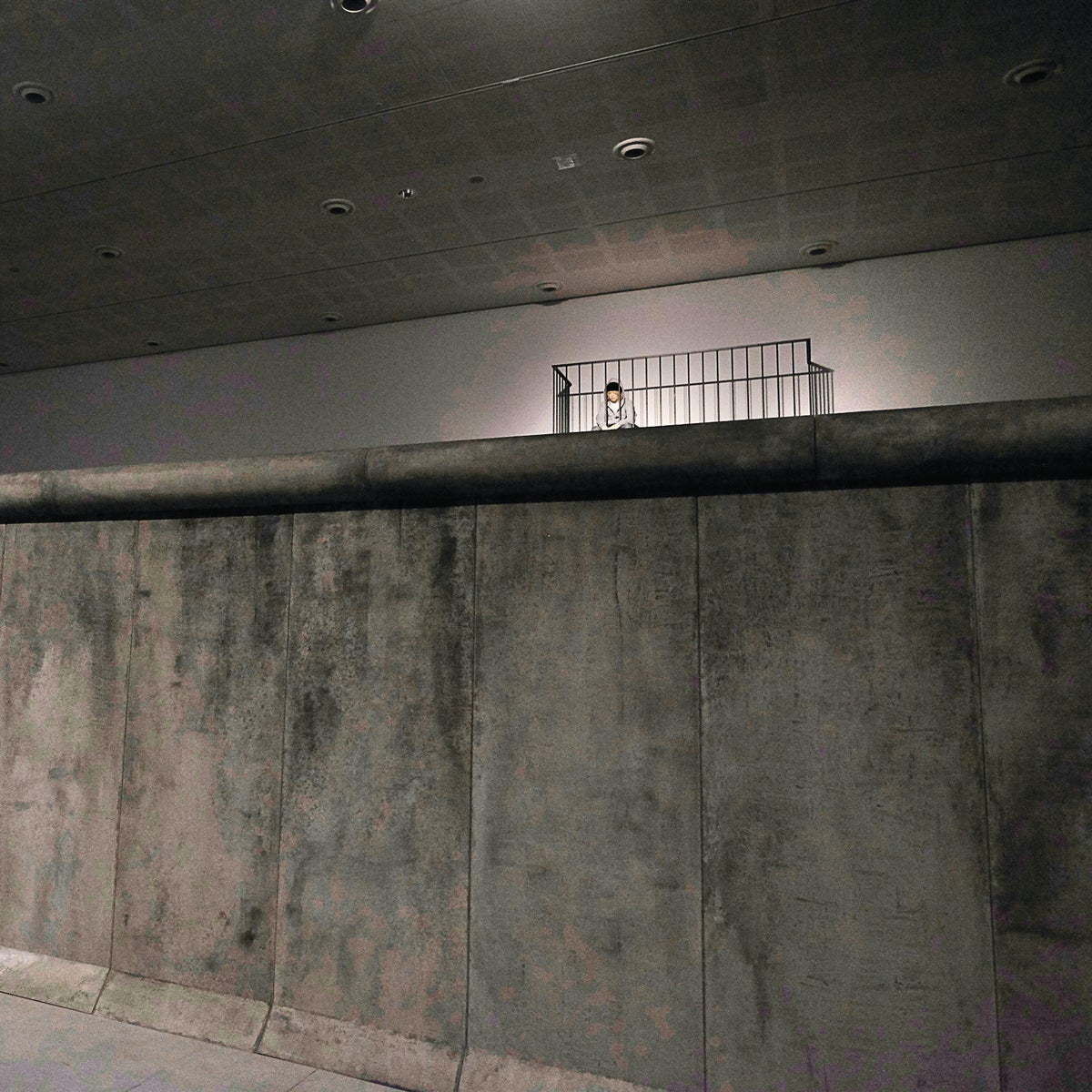 A replica of the Berlin Wall in an installation by Michael Elmgreen and Ingar Dragset at the Tel Aviv Museum of Art.