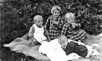 Four of the six Ulma family's children.