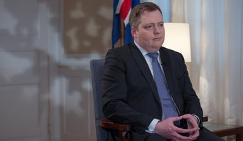 Sigmundur Gunnlaugsson, Iceland's prime minister, pauses during a Bloomberg Television interview at his office in Reykjavik, Iceland, on Thursday, Jan. 14, 2016.