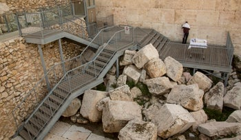 A Reform Jew praying at the southern expanse of the Western Wall, February 25, 2016.