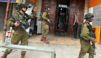 Israeli soldiers during an operation in the West Bank city of Nablus.