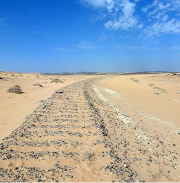 The Hallet Amar ambush site, where archaeologists, almost miraculously, managed to find one bullet that had to have been shot by Lawrence of Arabia, exactly as the British officer had said: nobody else at the battle used a Colt automatic.