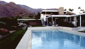 Richard Neutra's iconic Kaufman House in Palm Springs, California, built in 1946.