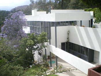 The Lovell House (Health House)  designed by Richard Neutra in Los Angeles, California.