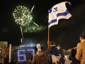An Independence Day celebration in Tel Aviv, 2015.