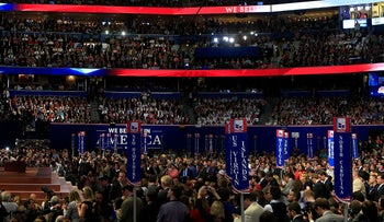The Republican National Convention (RNC) in Tampa, Florida, U.S., Aug. 30, 2012.