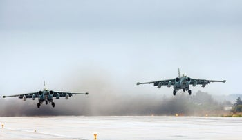 Russian warplanes taking off from a Syria airbase, earlier in March, 2016.