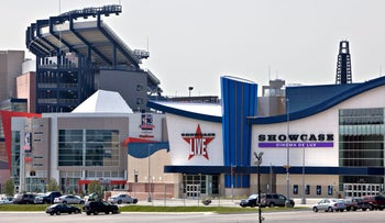 A Showcase Cinema and Showcase Live complex, a brand of National Amusements Inc., stands near Gilette Stadium Foxboro, Massachusetts, U.S., on Tuesday, July 28, 2009.